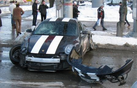 Russian porsche crashed 7