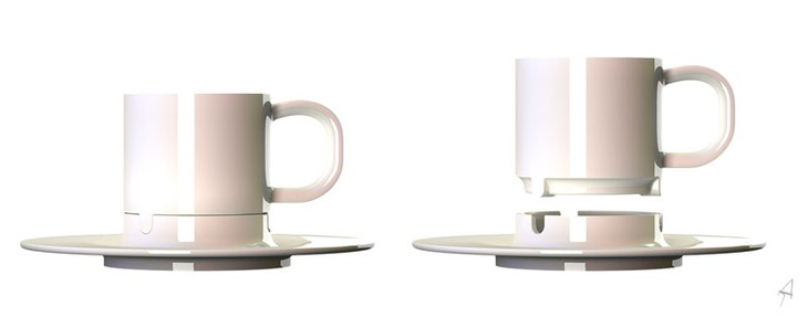 Cup with saucer-ashtray 2