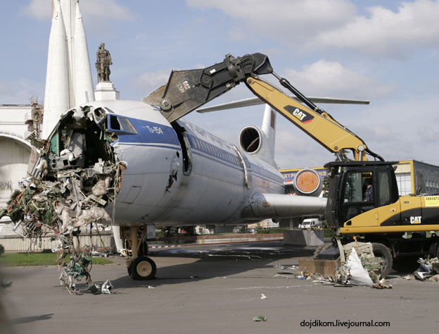 Russian plane destuction in Moscow, Russia 1