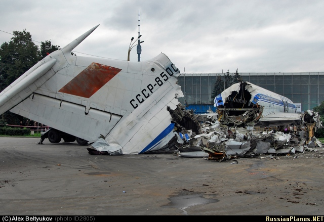 Russian plane destuction in Moscow, Russia 3