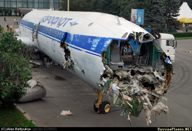 Russian plane destuction in Moscow, Russia 4
