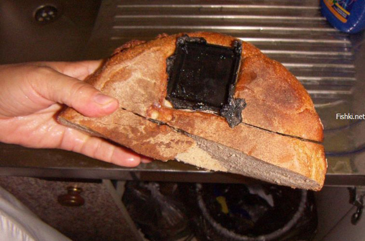 bread loaf with a cockroach trap inside 2