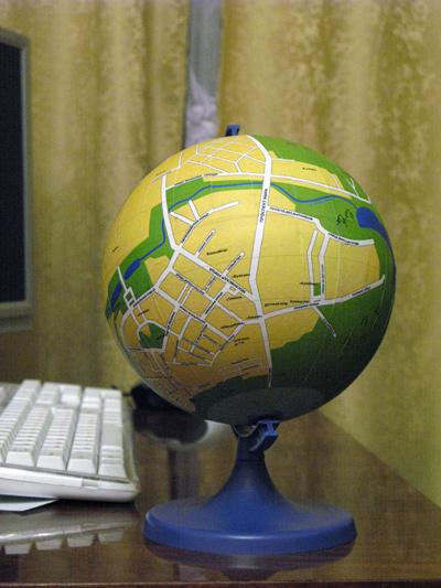 Russian DIY globes