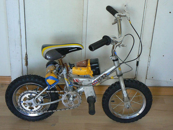 bike powered with drills 1