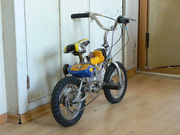bike powered with drills 2