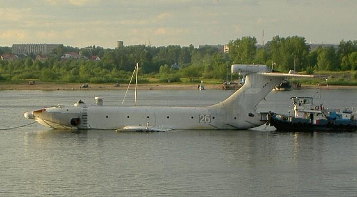 russian ekranoplane or ekranoplan 12