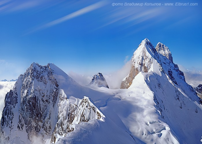 caucasian mauntains in Russia, Elbrus is the tallest 9