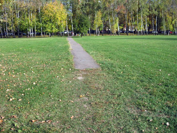 Fake roads in Russian parks 16