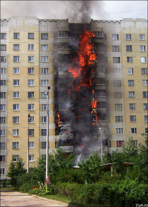 typical fire in Moscow suburban area 2