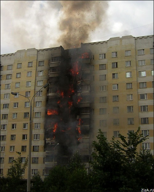 typical fire in Moscow suburban area 3