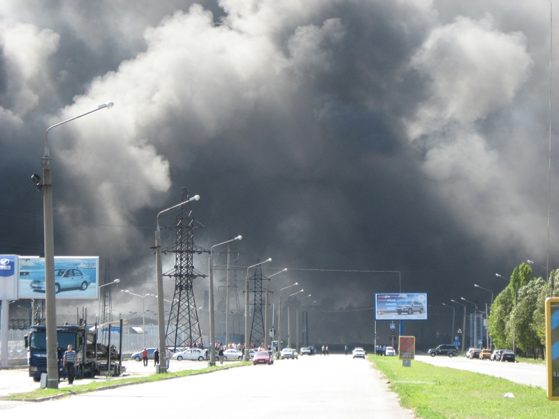 Russian fire in Ukraine ZAZ factory 3