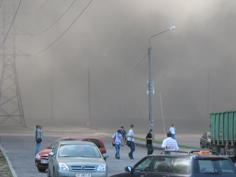 Russian fire in Ukraine ZAZ factory 6