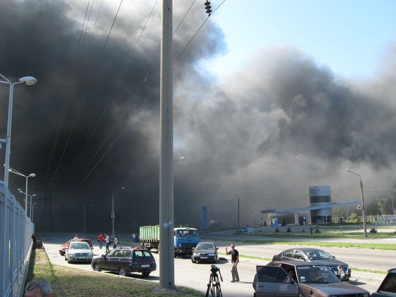 Russian fire in Ukraine ZAZ factory 7