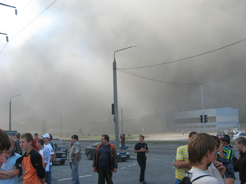 Russian fire in Ukraine ZAZ factory 9