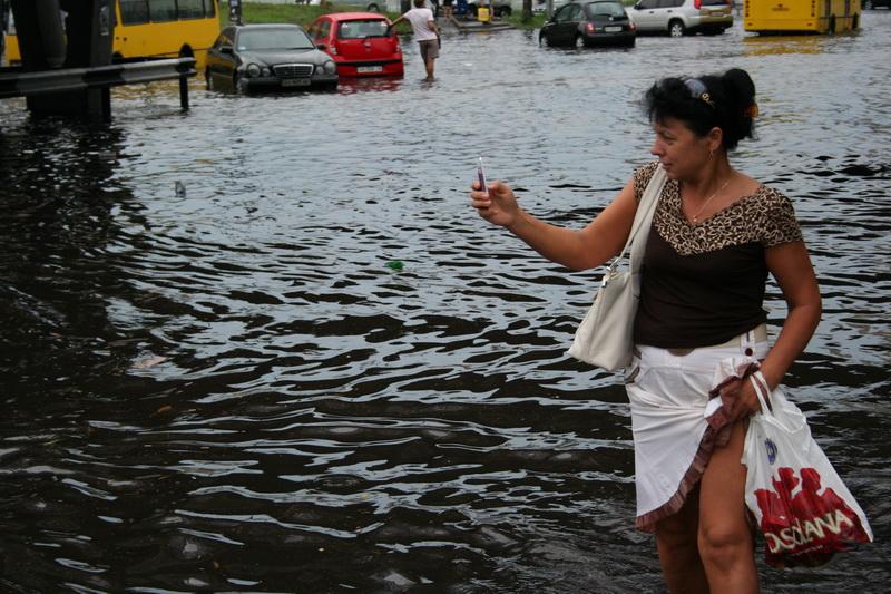 Russian flooding in Kiev