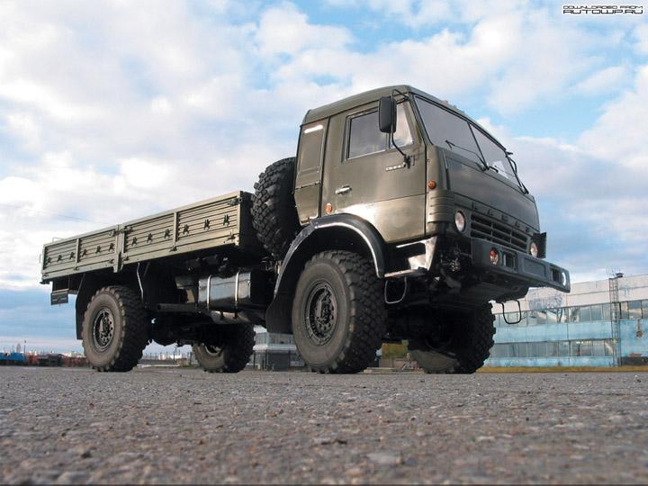 Military drop of kamaz truck 1