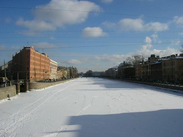 st. petersburg, fontanka river