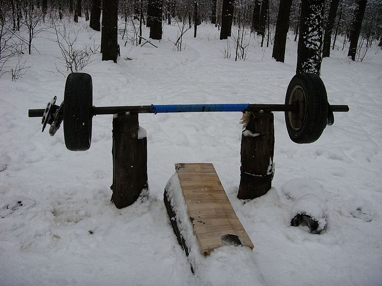 Russian gym in forest 10