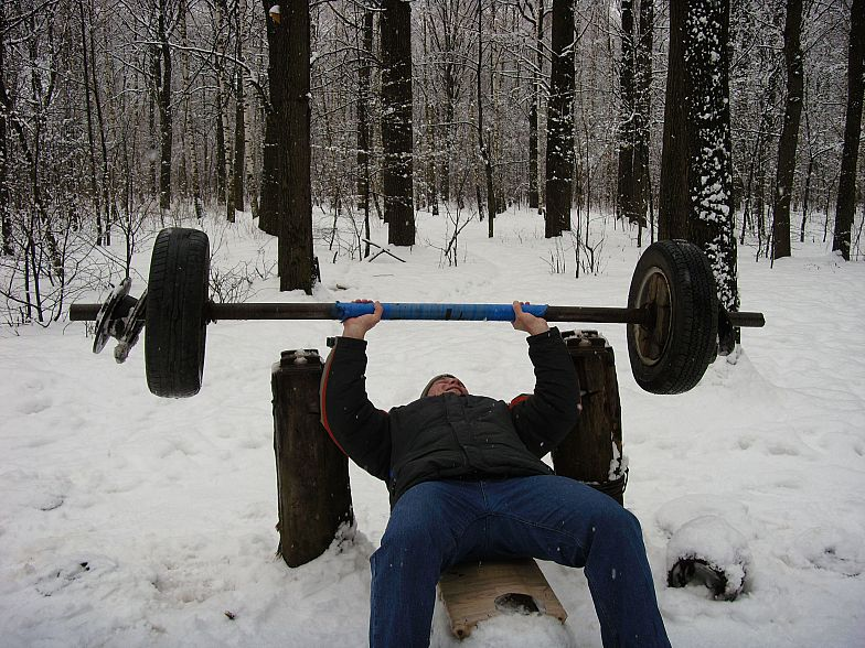 Russian gym in forest 14