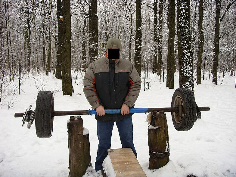 Russian gym in forest 15