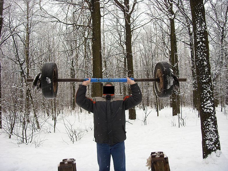 Russian gym in forest 16
