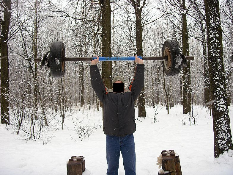 Russian gym in forest 17