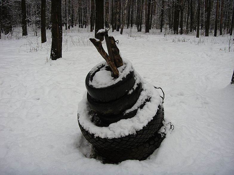 Russian gym in forest 18