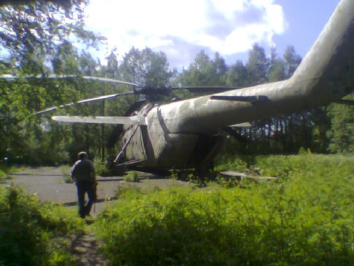 Helicopter in the Forest