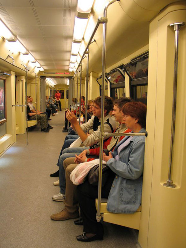 a picture gallery right inside russian metro train 3