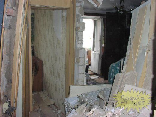 russian house after a gas blow up 2