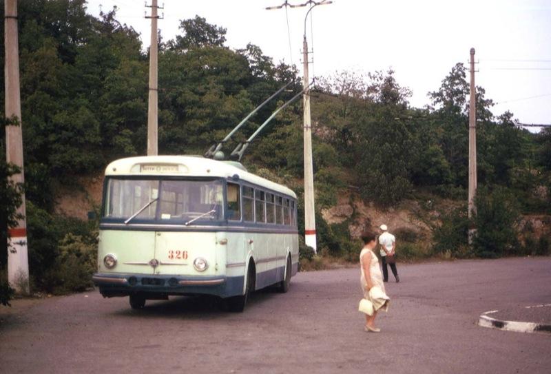 Ancient Electro bus running through georgia 12