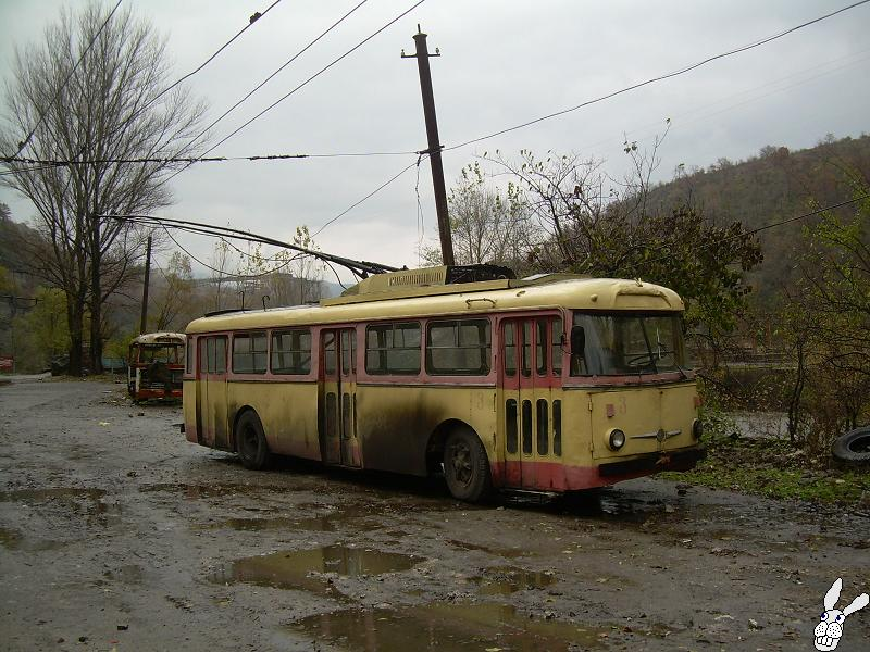 Ancient Electro bus running through georgia 4