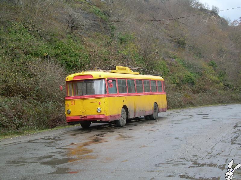 Ancient Electro bus running through georgia 7
