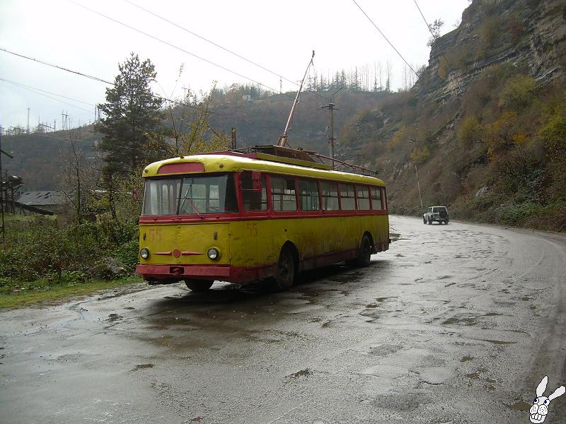 Ancient Electro bus running through georgia 8