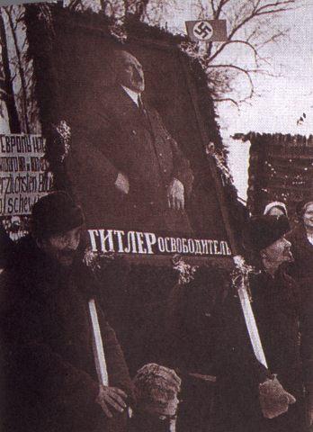 German Anti-Russian propaganda posters during WW2 on Russian language 4