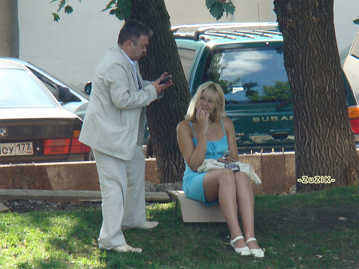 Russian girl on the street of Moscow 6