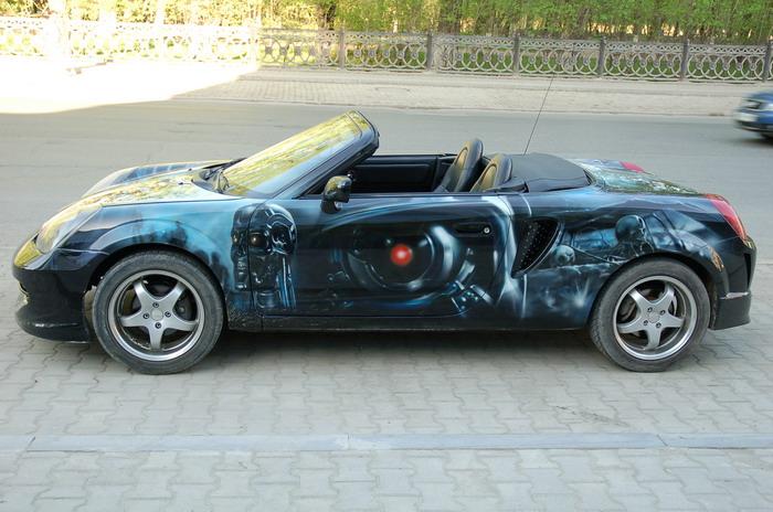 russian car glowing in the dark 7