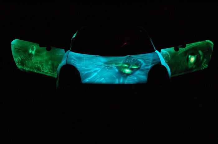 russian car glowing in the dark 9