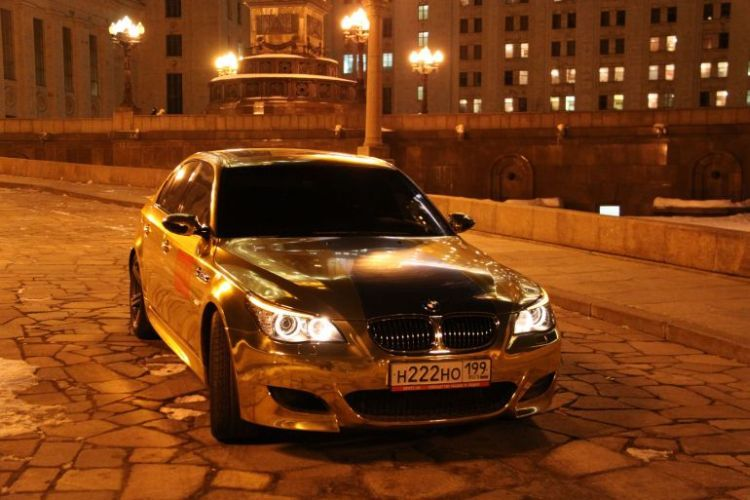 Gold Plated BMW M5