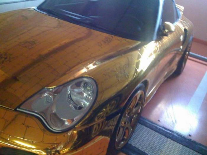 Russian gold plated porsche 1