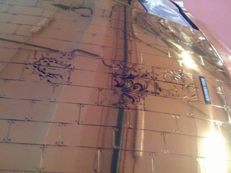 Russian gold plated porsche 15