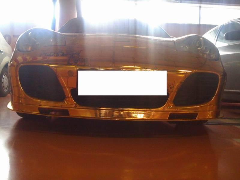 Russian gold plated porsche 16