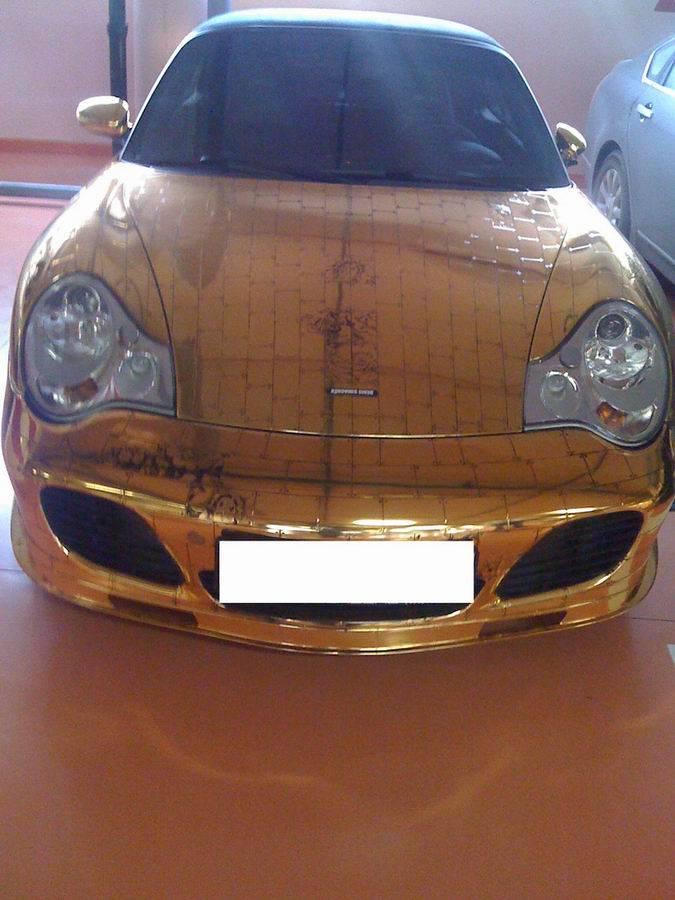 Russian gold plated porsche 17