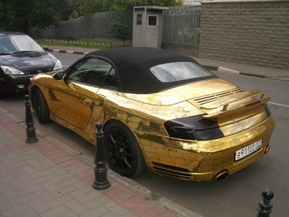 Russian porsche made of gold 2