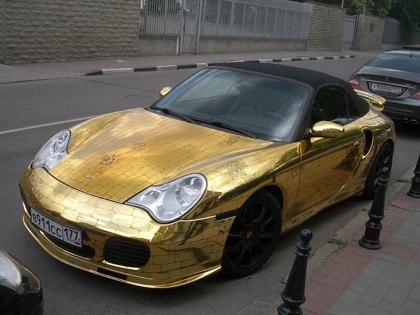 Russian porsche made of gold 6