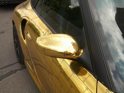 Russian porsche made of gold 8
