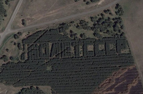 Russian satellite artefacts on google maps 2