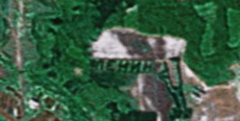 Russian satellite artefacts on google maps 4