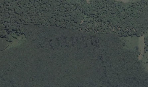 Russian satellite artefacts on google maps 7