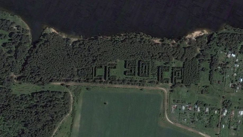 Russian satellite artefacts on google maps 8